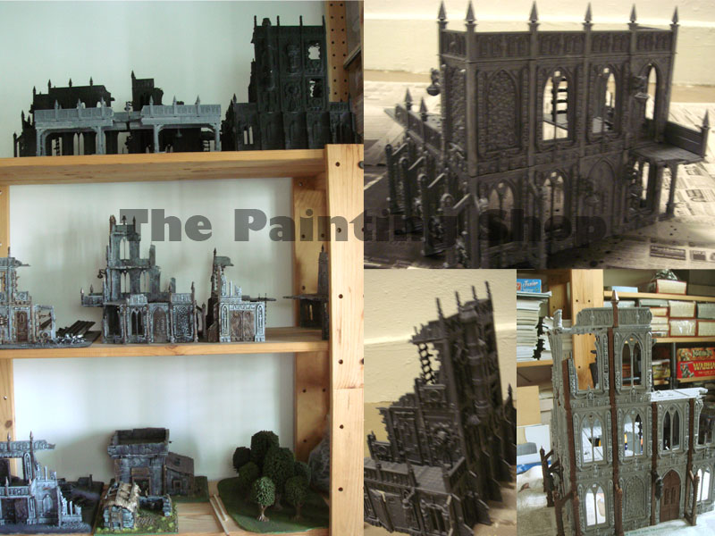 Cities of Death, the ones at top of shelf is in process of painting...