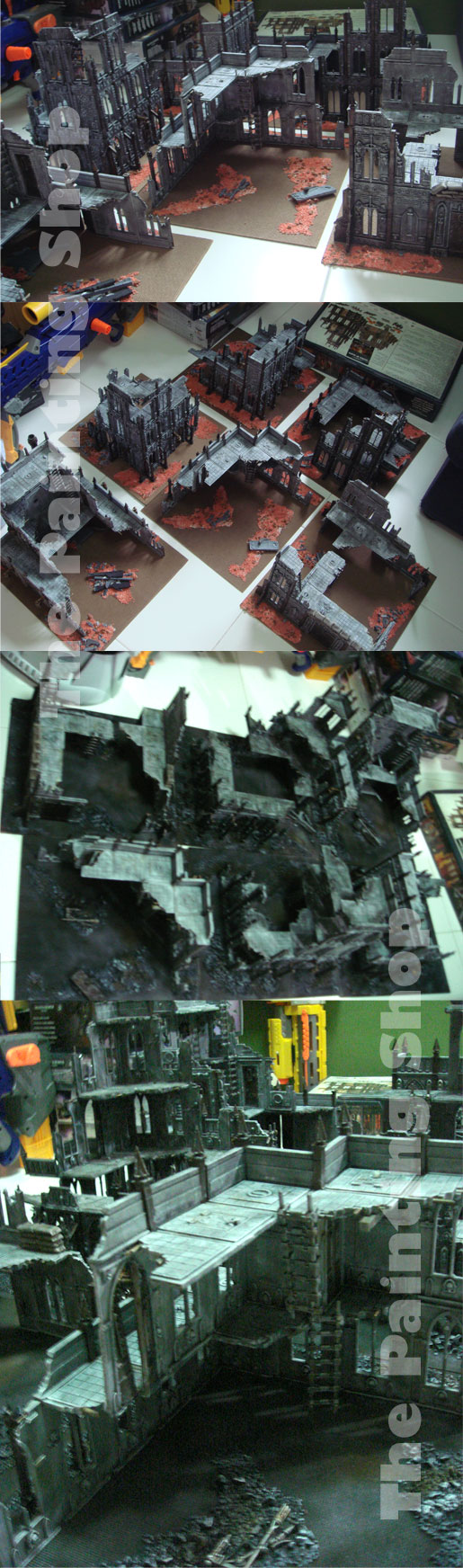 Cities of Death - Base board painting before & after
