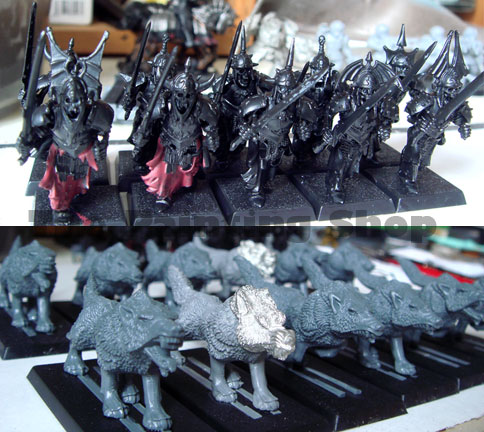 Grave Guards and Dire Wolves