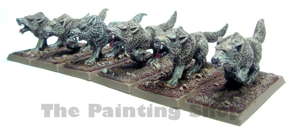Was so excited about painting my Vampire Count Dire Wolves that over the