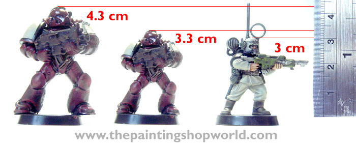 space marine height