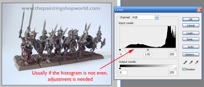 histogram level adjustment