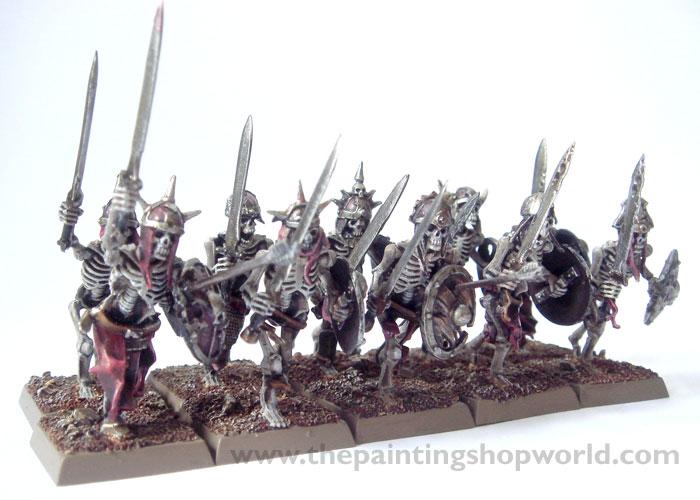 vampire count skeleton warriors