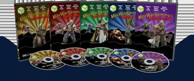 mini wargamming painting academy 5 dvd set