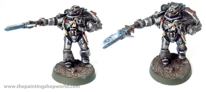 metal grey knights reburished