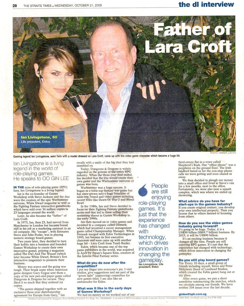 Ian Livingstone news article