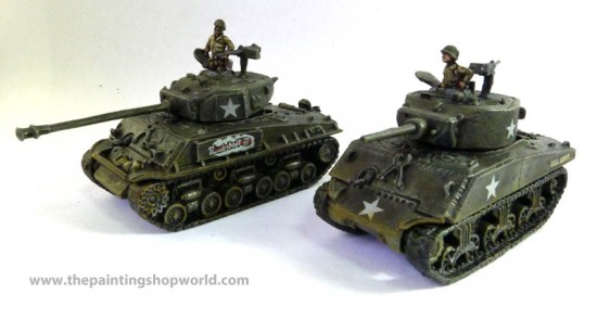 Flames of War Lt. Col. Creighton Abrams and Thunderbolt VII
