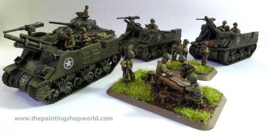 Flames of War M7 Priest Battery