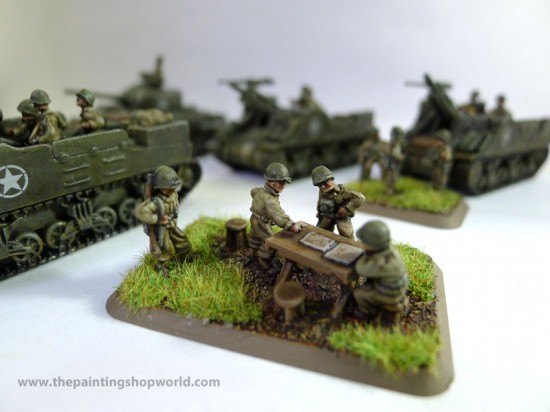 Flames of War M7 Priest Staff Team